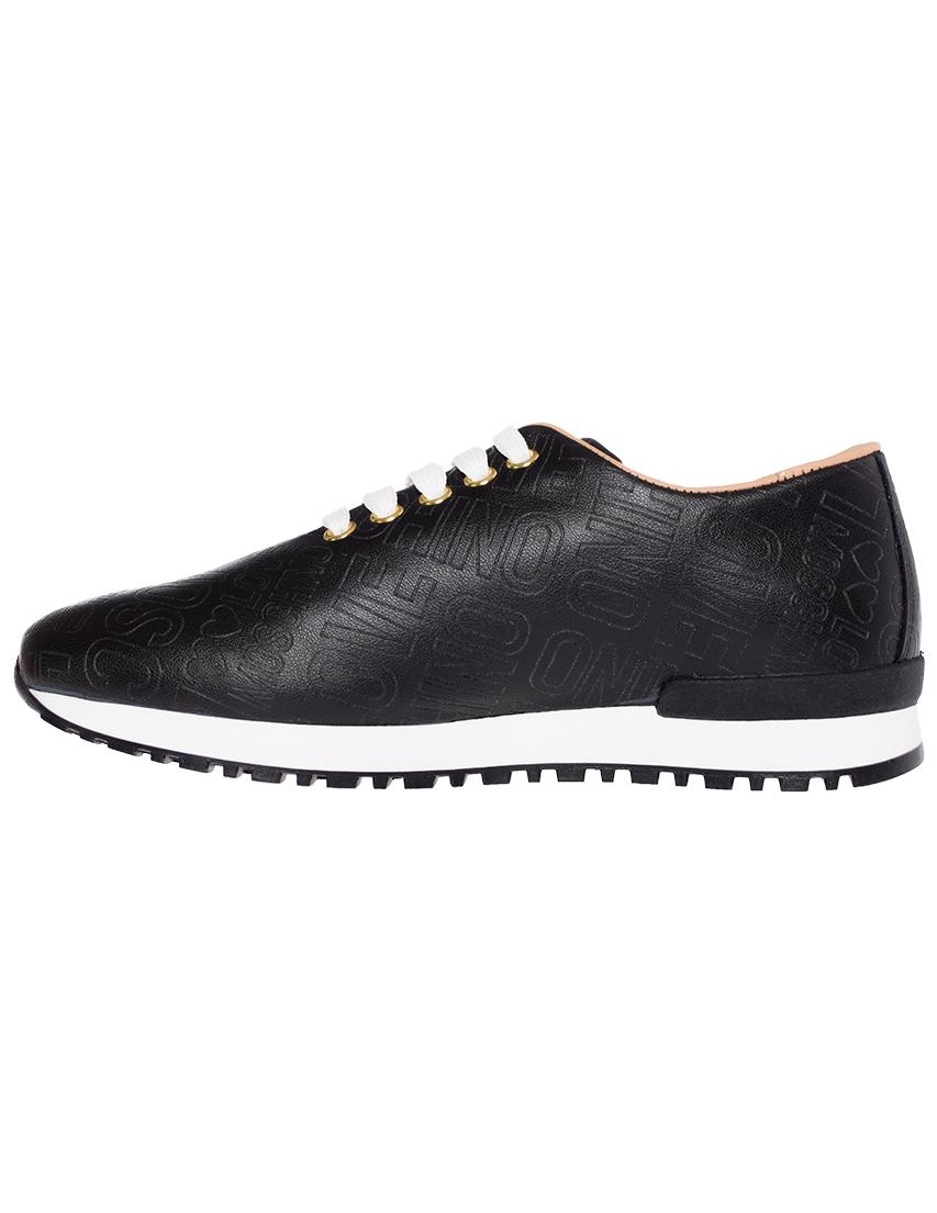 Кроссовки кожаные чёрные LOVE MOSCHINO (ITALY)