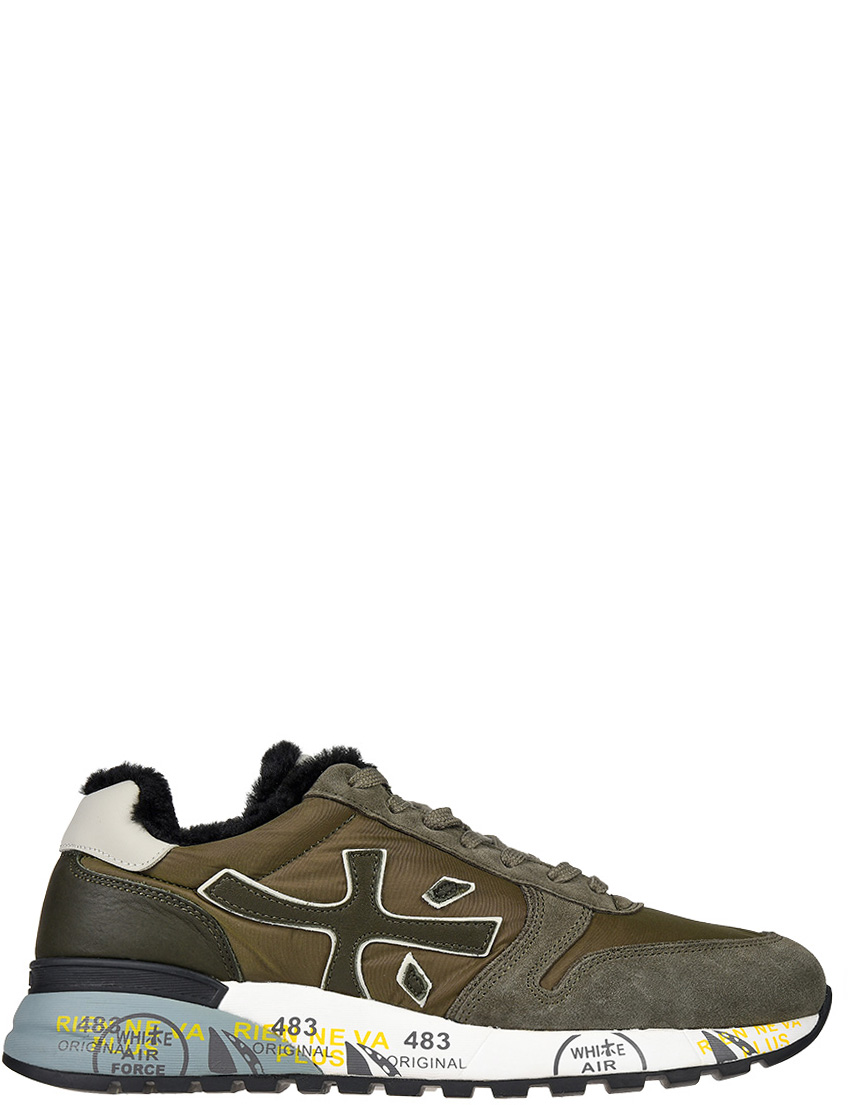 Замшевые зелёные кроссовки PREMIATA (ITALY)