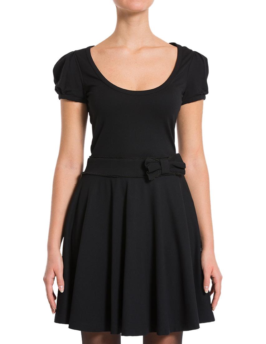 Купить Платье, RED VALENTINO, Черный, 73%Вискоза 23%Полиамид 4%Эластан, Осень-Зима