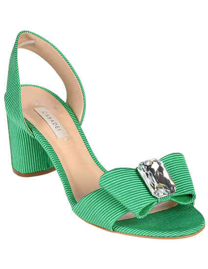 женские зеленые Босоножки Casadei 545-green - фото-2