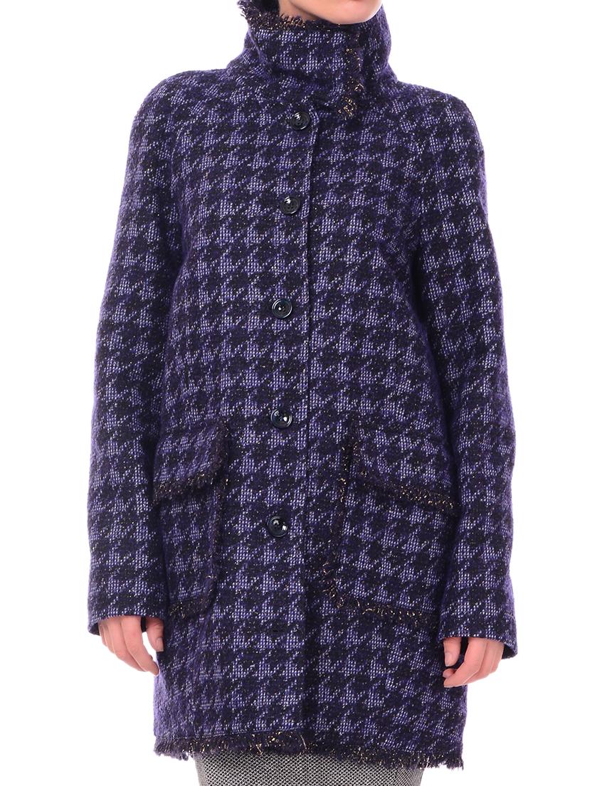 Купить Пальто, PATRIZIA PEPE, Черный, 51%Шерсть 17%Полиамид 15%Хлопок 8%Вискоза, Осень-Зима