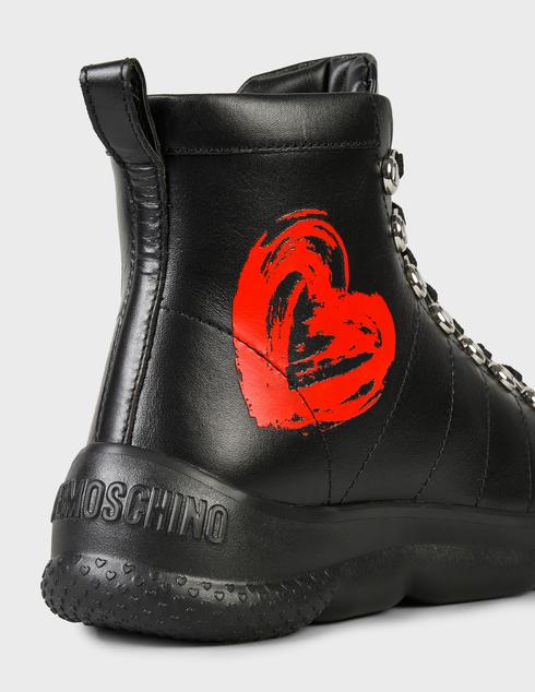 женские черные кожаные Ботинки Love Moschino JA15514G0DIE0000 - фото-5
