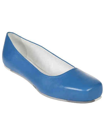 женские голубые Балетки Jil Sander 4313-blue - фото-2