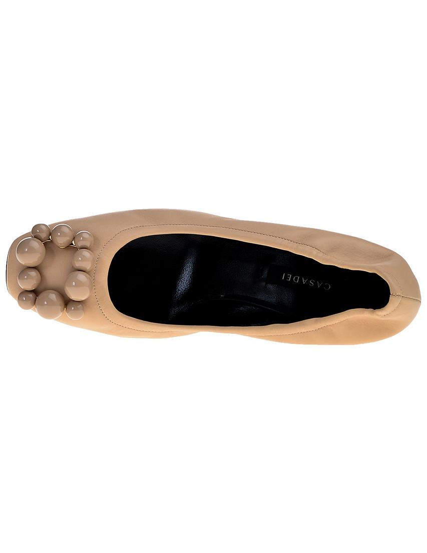 Фото 5 - женские туфли  бежевого цвета