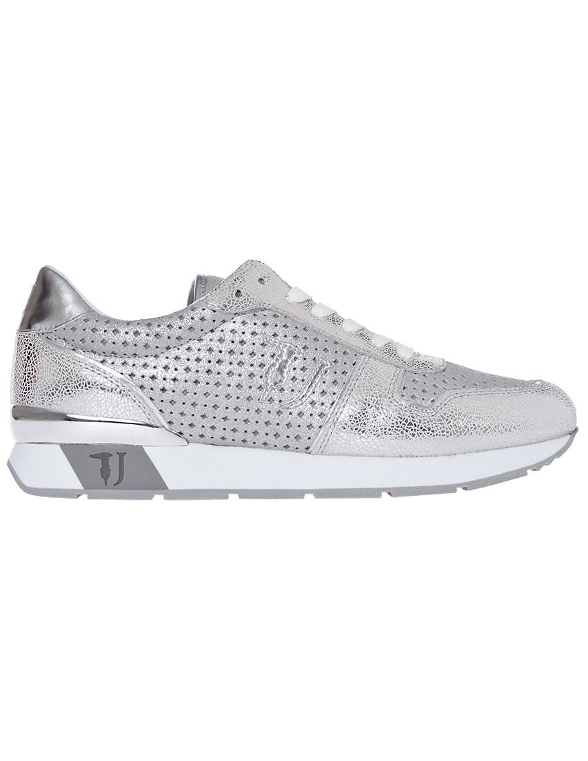 Фото 7 - женские кроссовки  серебрянного цвета