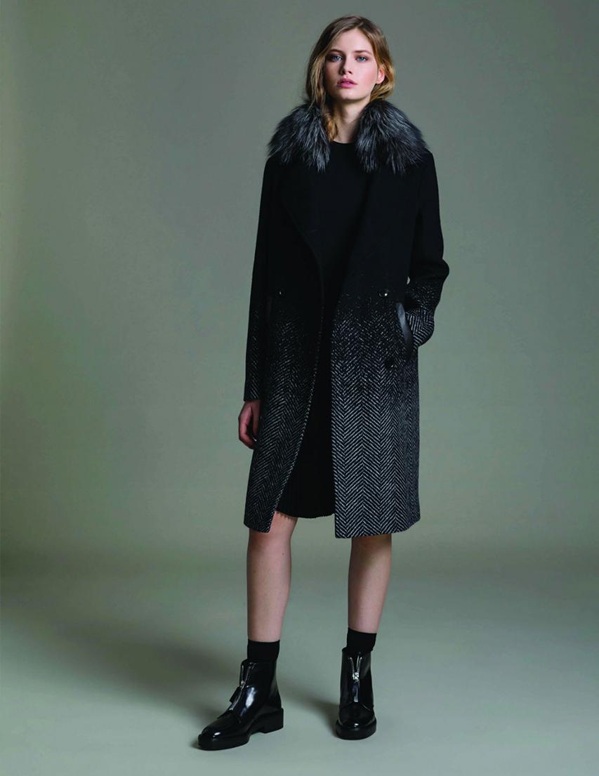 Купить Пальто, SOIA & KYO, Черный, 50%Шерсть 50%Вискоза;100%Полиэстер, Осень-Зима
