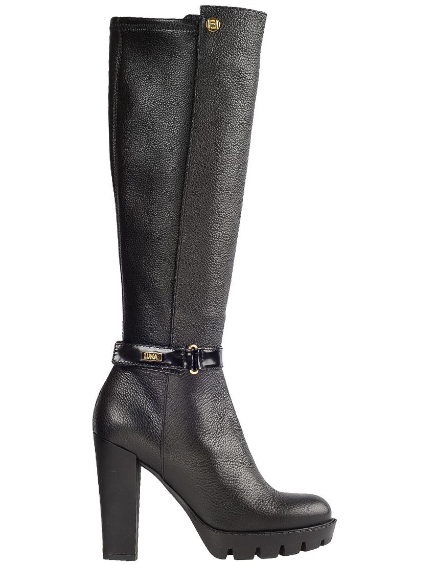 Купить Сапоги на каблуке, FABIO DI LUNA, Черный, Осень-Зима