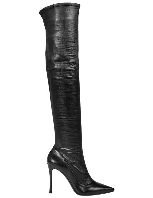 черные Ботфорты Fabi 4385_black размер - 38.5