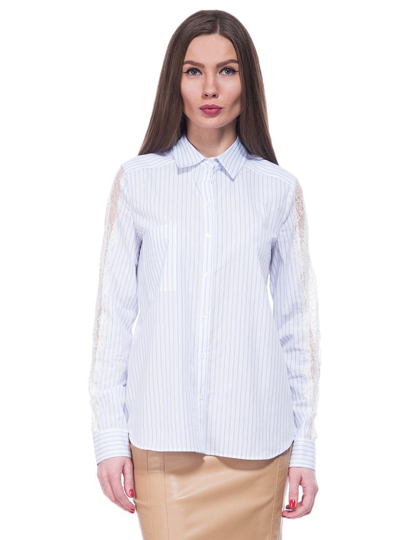 Купить Рубашки, PATRIZIA PEPE, Голубой, 100%Хлопок, Весна-Лето