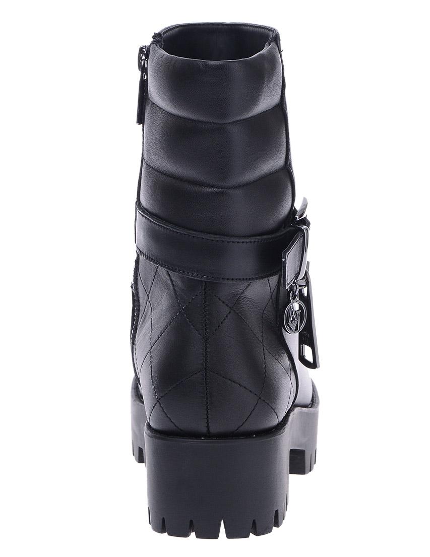 Фото 4 - женские ботинки и полуботинки  черного цвета