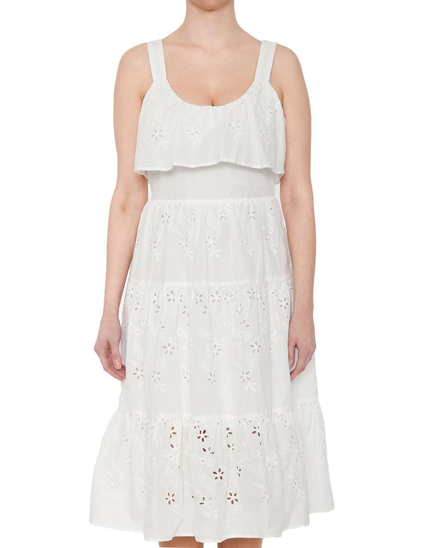 Купить Платье, SILVIAN HEACH, Белый, 100%Хлопок, Весна-Лето