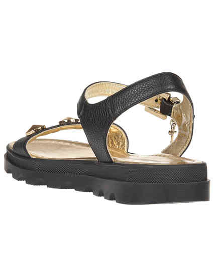 черные женские Сандалии Cesare Paciotti 54961-gold_black 4934 грн