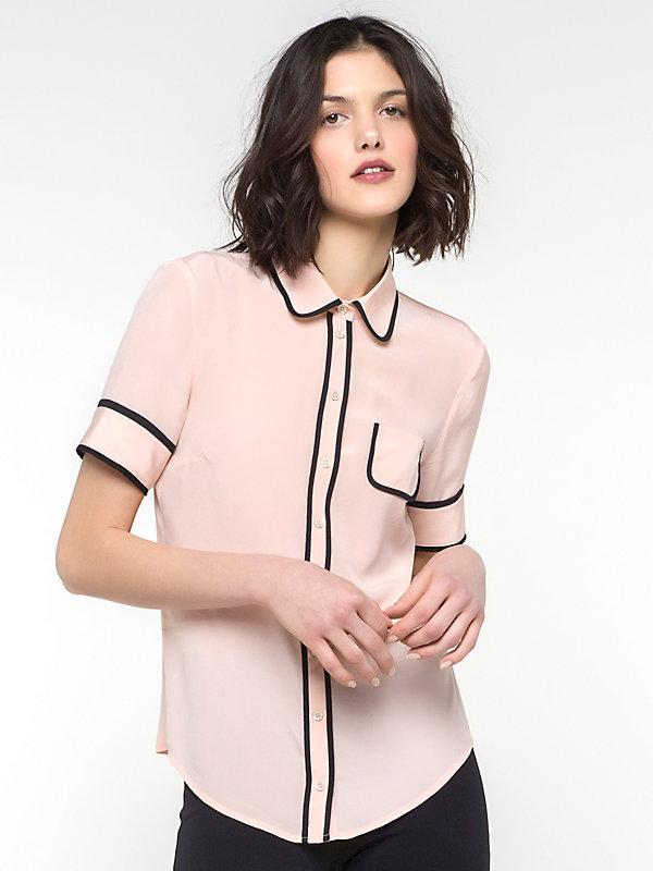 Блуза, PATRIZIA PEPE, Розовый, 100%Шелк, Весна-Лето  - купить со скидкой