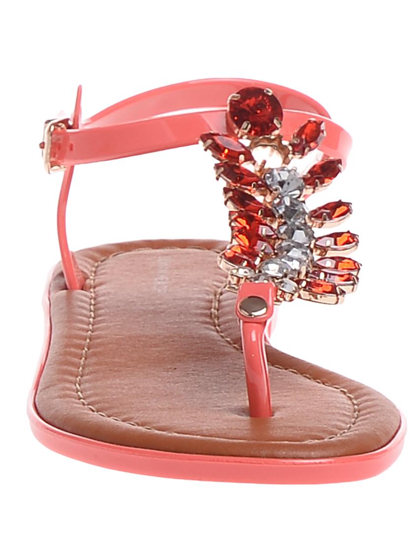 Фото 4 - женские сандали  кораллового цвета
