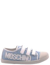 Детские кеды для девочек MOSCHINO 25316-blue