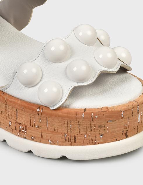 женские белые кожаные Босоножки Pertini 211W30695D2 - фото-5