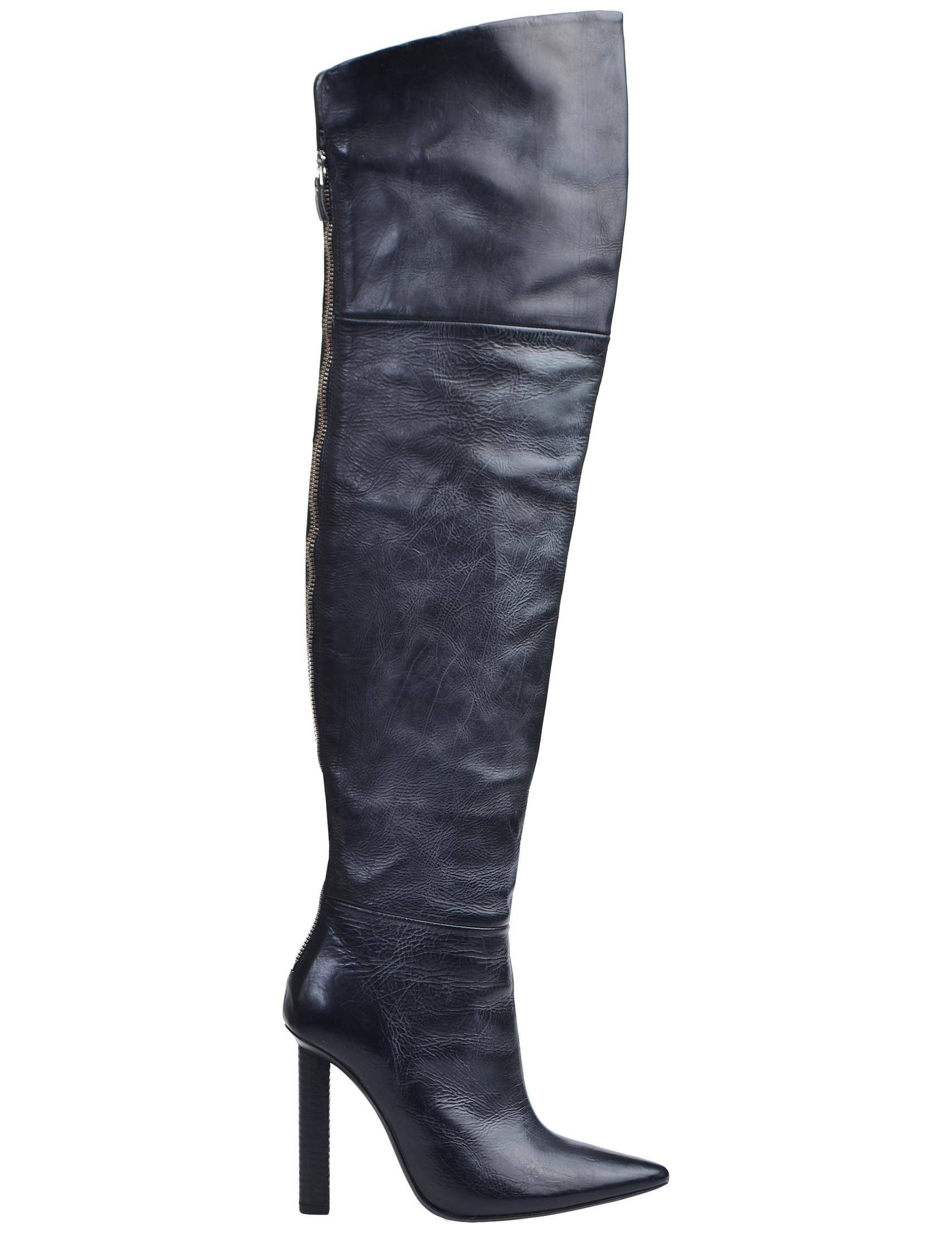 Фото 2 - женские ботфорты  черного цвета