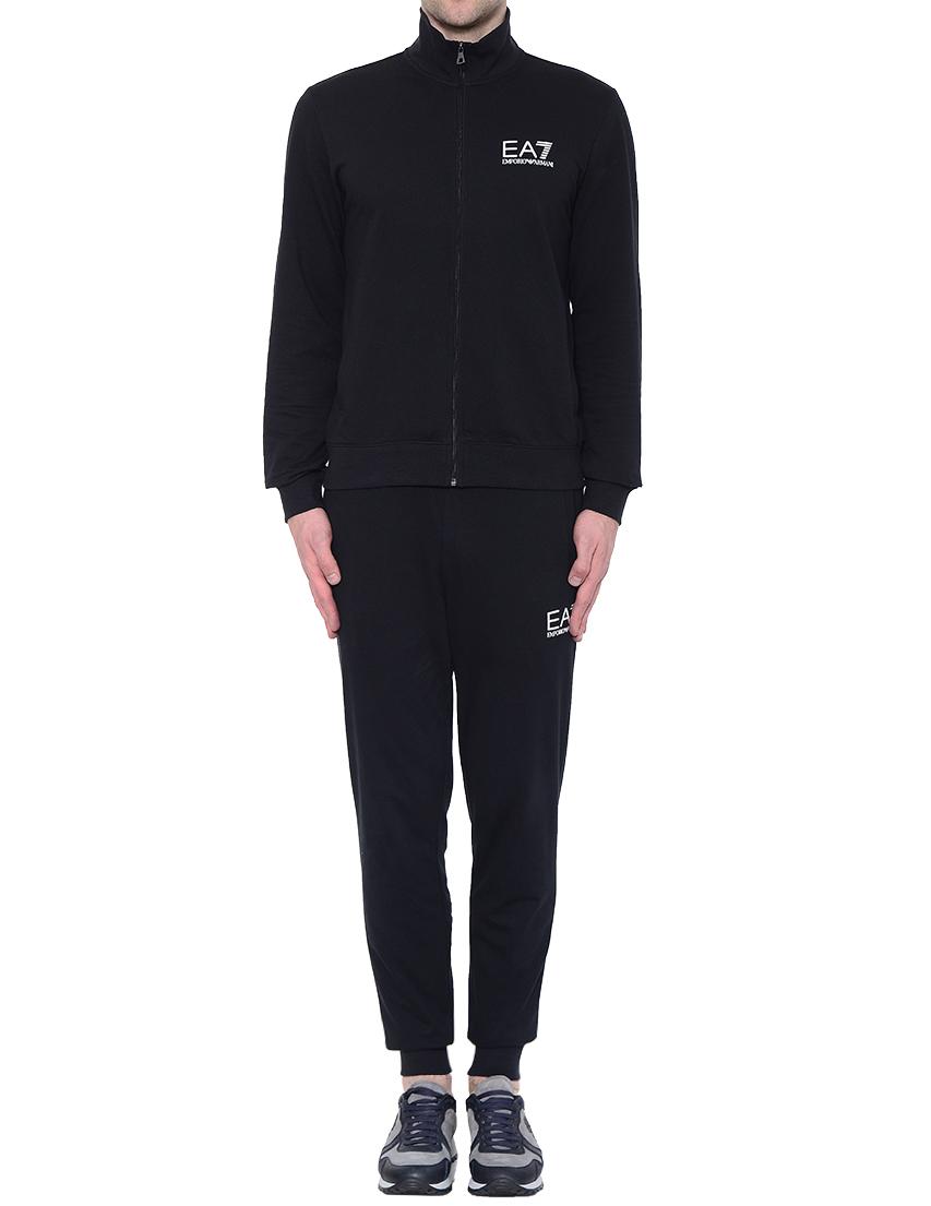 Купить Спортивные костюмы, Костюм спортивный, EA7 EMPORIO ARMANI, Черный, 100%Хлопок, Осень-Зима