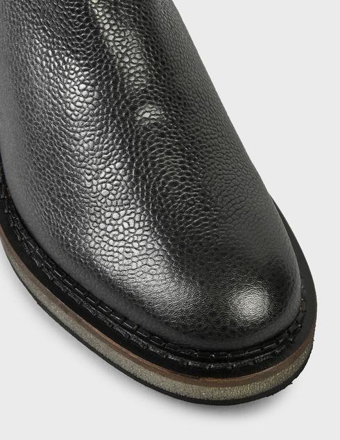 мужские черные кожаные Ботинки Pertini 202M24843D2 - фото-5