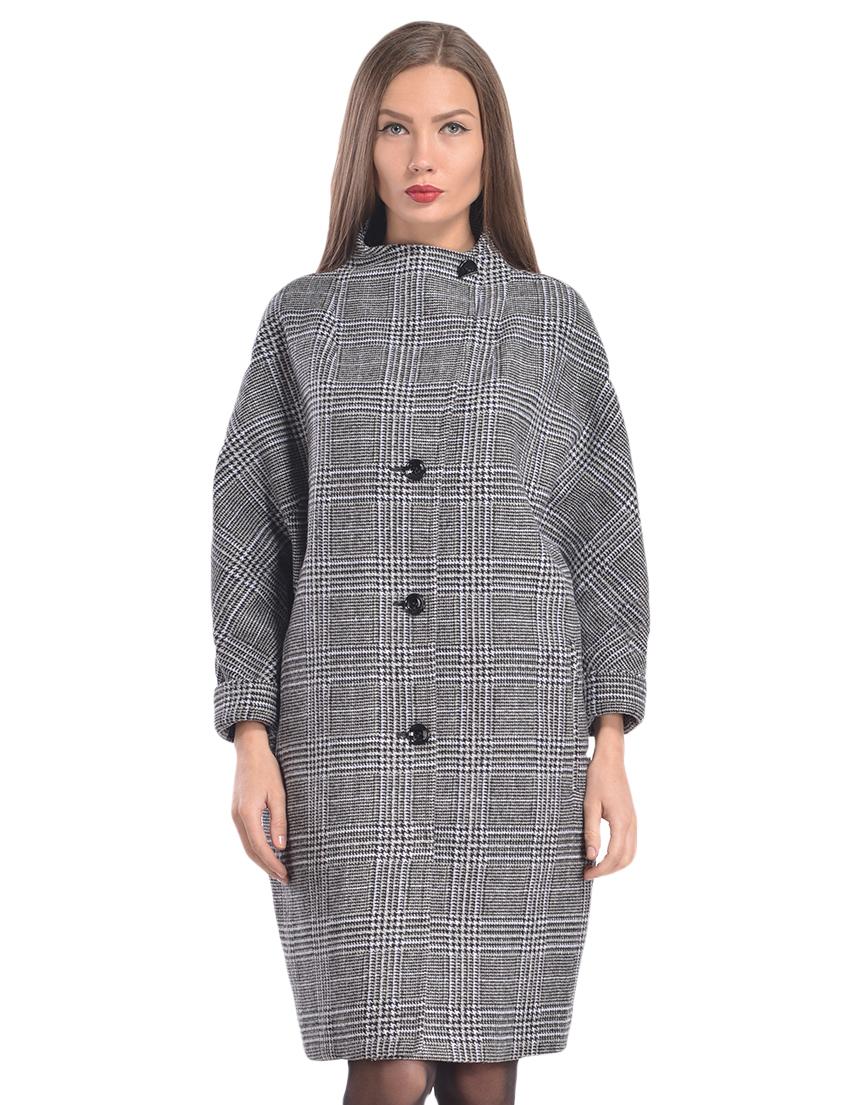 Купить Пальто, PATRIZIA PEPE, Серый, 16%Хлопок 59%Вискоза 25%Лана, Осень-Зима
