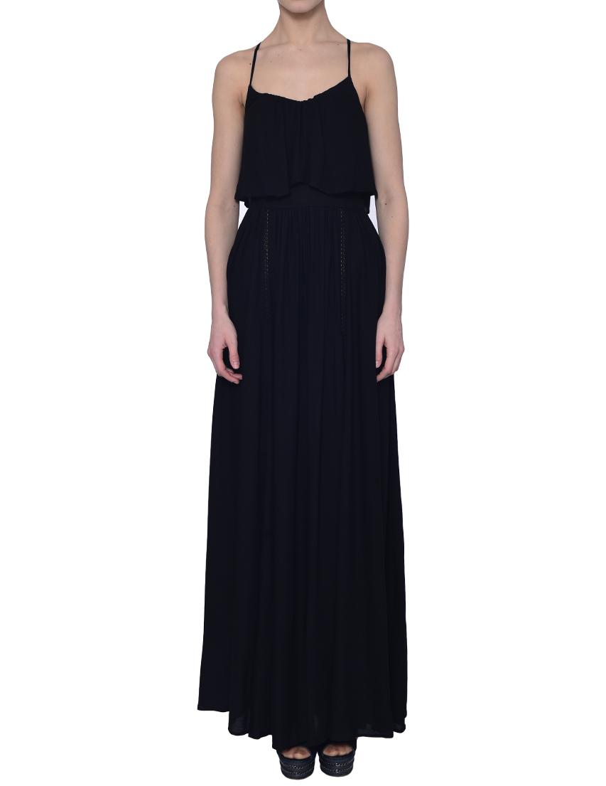 Купить Платье, ELISABETTA FRANCHI, Черный, 100%Вискоза, Весна-Лето