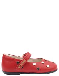 Детские туфли для девочек MOSCHINO 25354-red