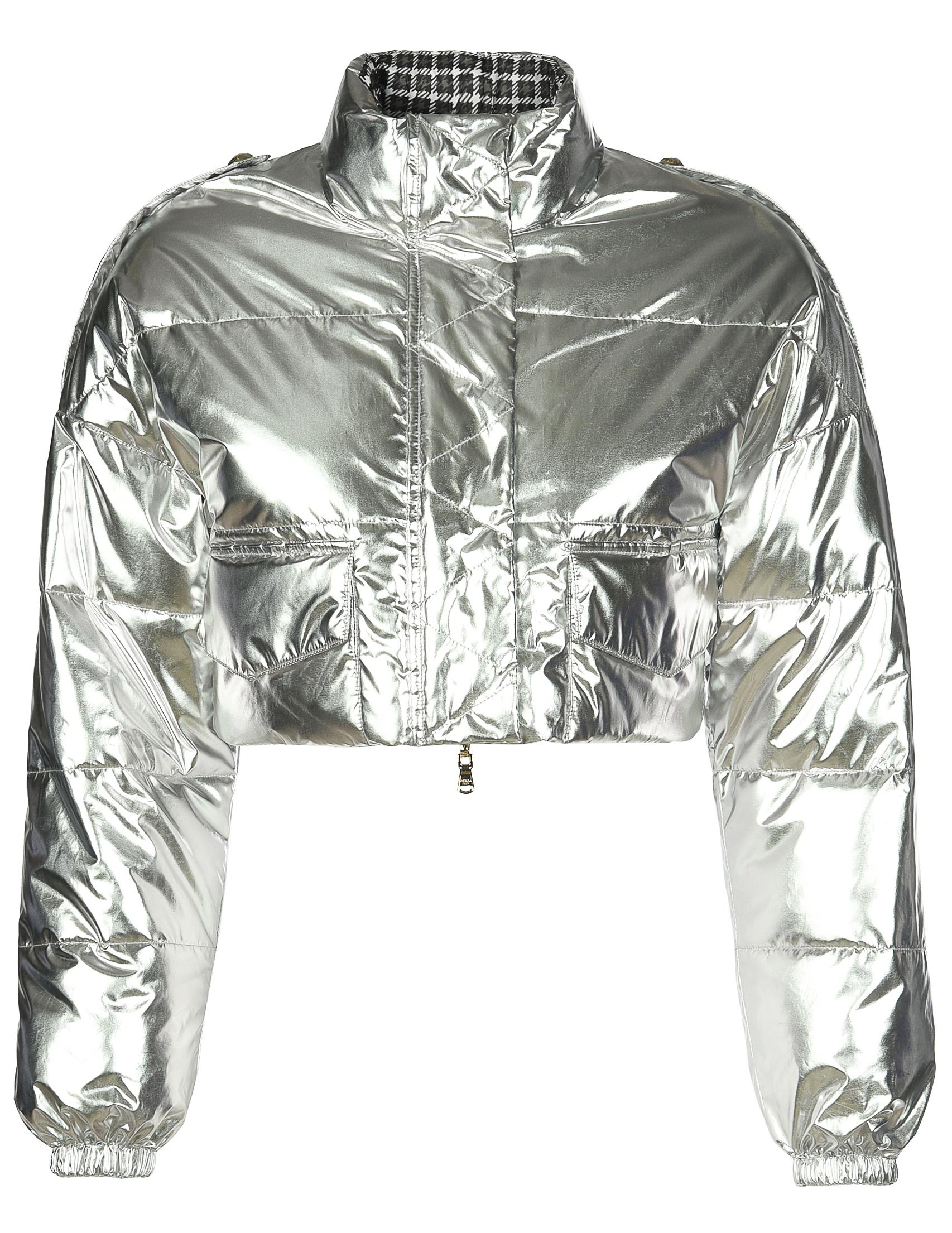 Купить Куртка, PATRIZIA PEPE, Серебряный, 100%Полиэстер, Осень-Зима