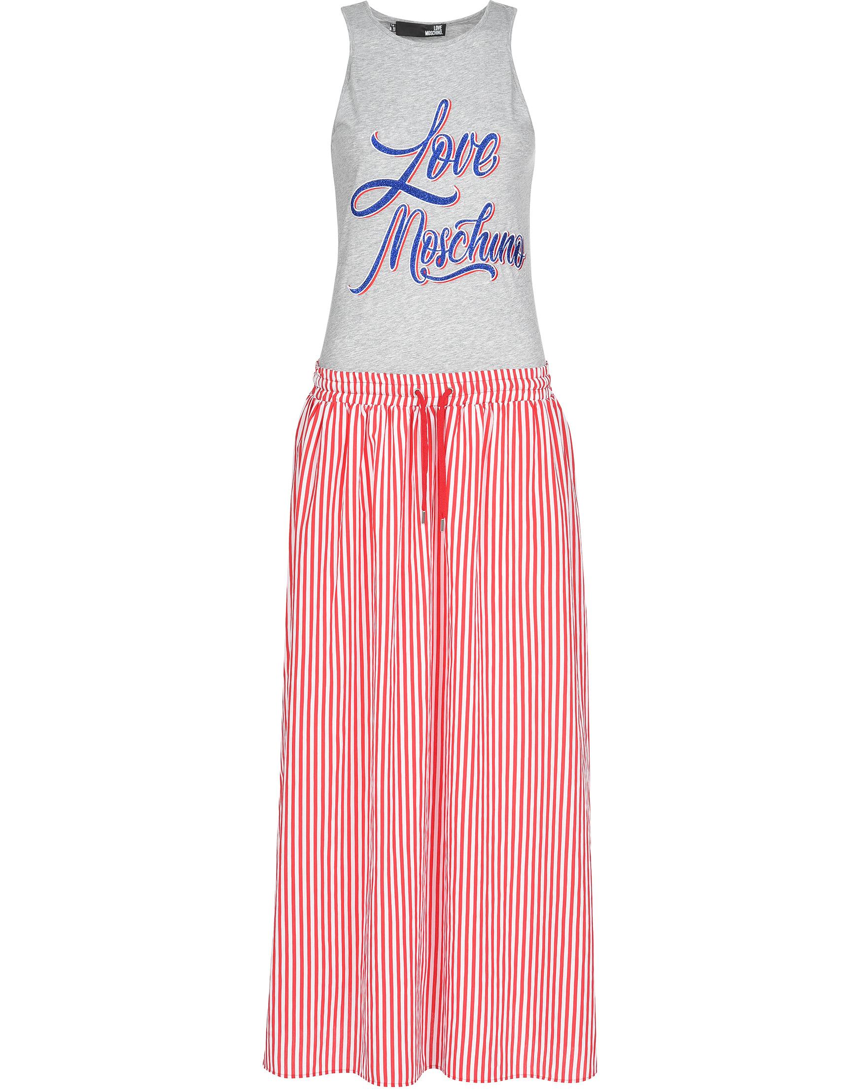 Купить Платье, LOVE MOSCHINO, Многоцветный, 85%Вискоза 15%Полиамид;100%Хлопок, Весна-Лето