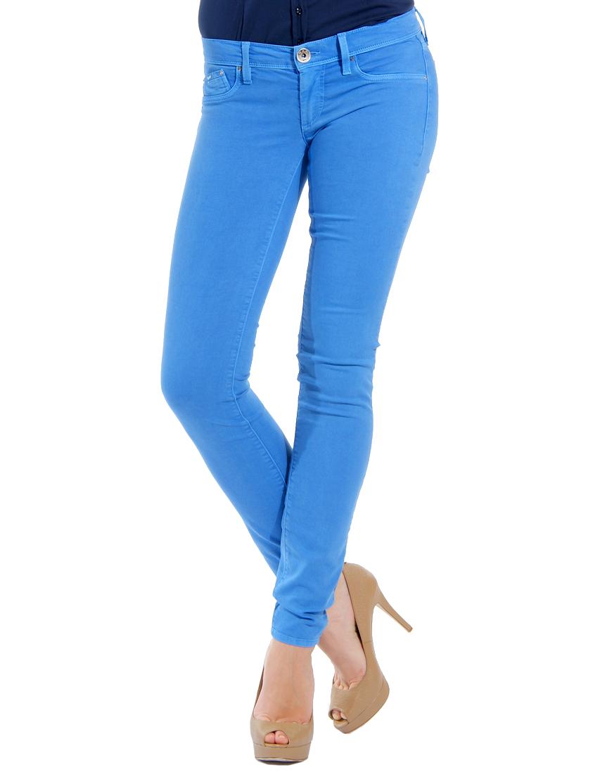 ярко синие джинсы женские фото по-корейски