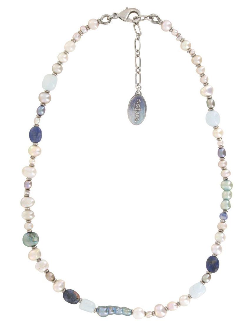 Купить Ожерелья, Ожерелье, NATURE BIJOUX, Серый, Весна-Лето