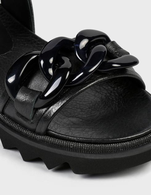 женские черные кожаные Босоножки Pertini 211W30942D1 - фото-5