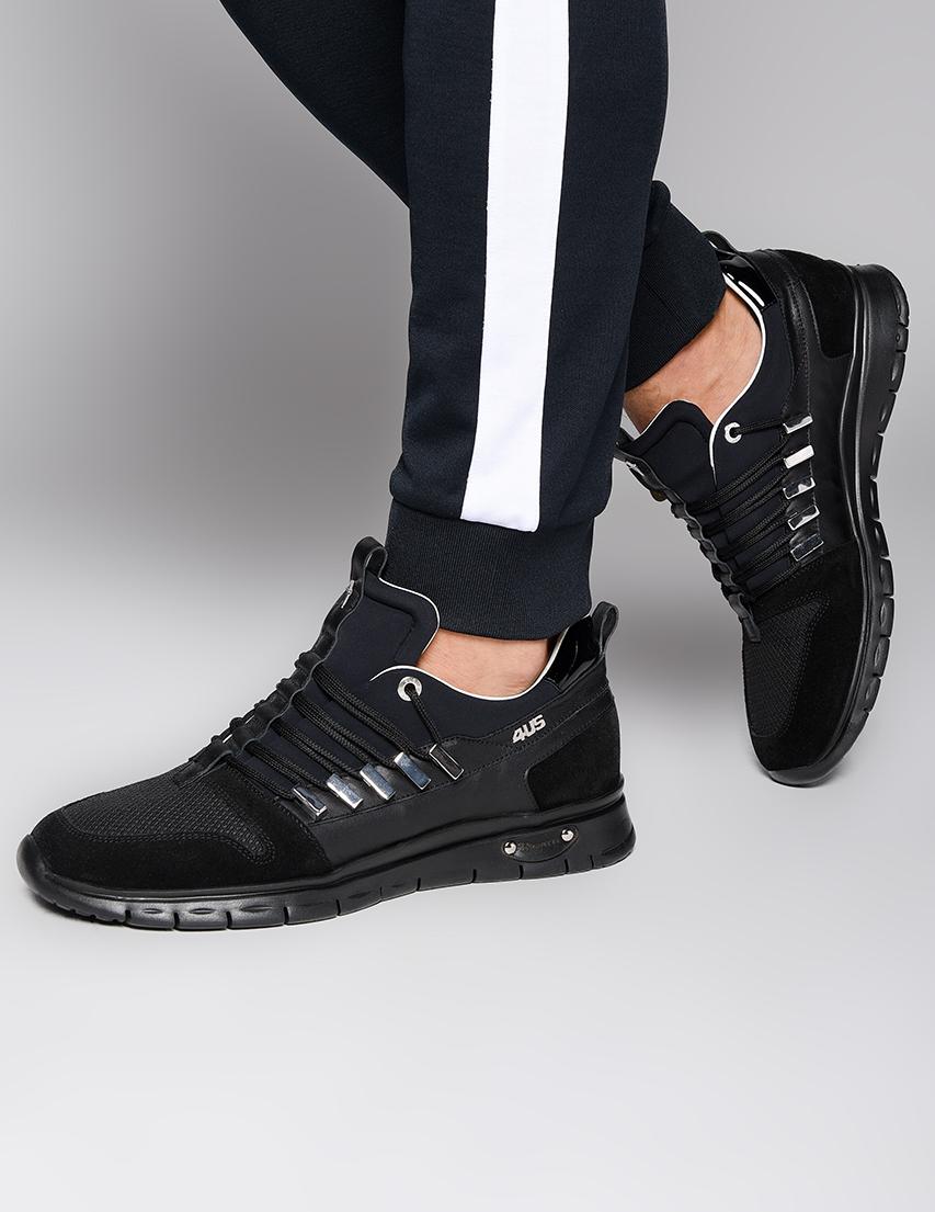 Мужские кроссовки 4US Cesare Paciotti WV5-black