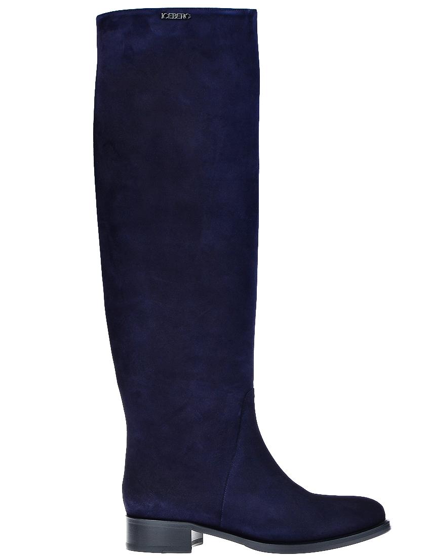 Фото - женские ботфорты  синего цвета