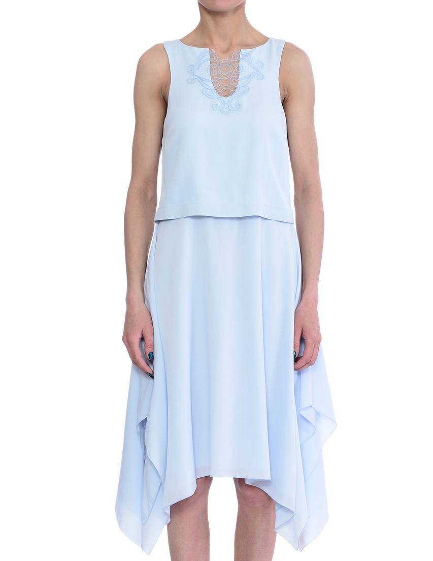 Купить Платье, PATRIZIA PEPE, Голубой, 70%Ацетат 30%Вискоза, Весна-Лето