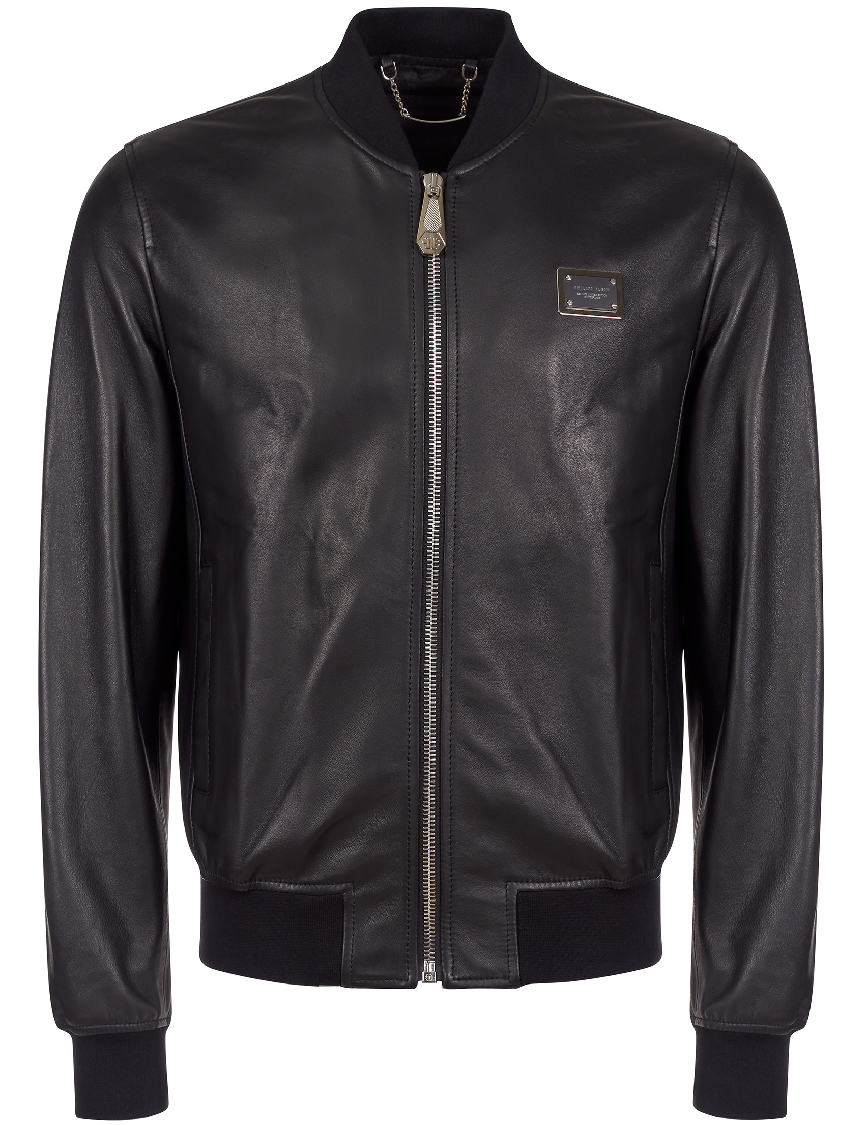 Купить Куртки, Куртка, PHILIPP PLEIN, Черный, 100%Кожа;51%Вискоза 49%Ацетат, Осень-Зима