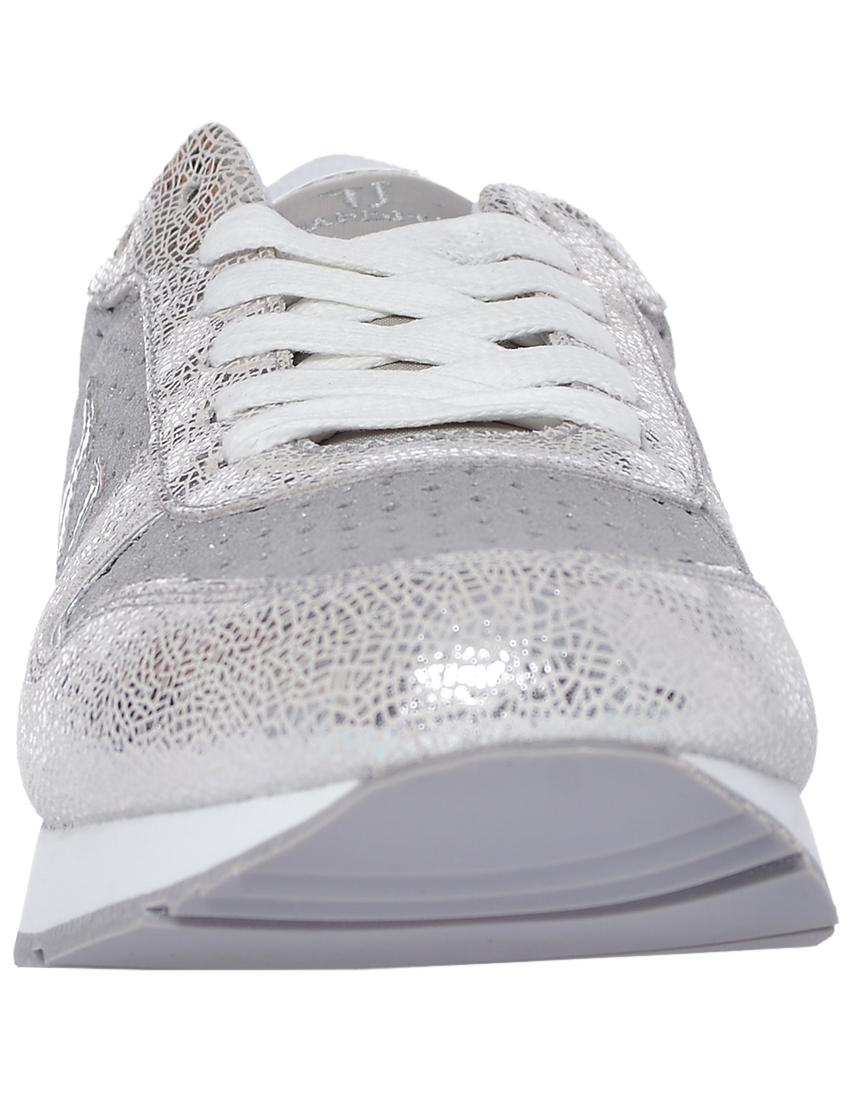 Фото 4 - женские кроссовки  серебрянного цвета