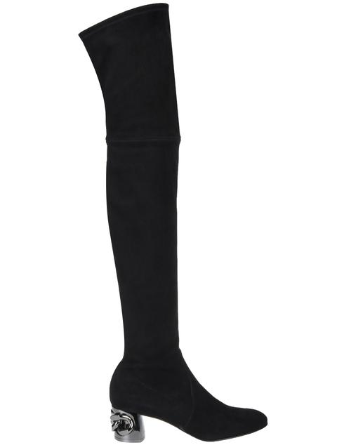 черные Ботфорты Casadei 903_black размер - 37.5; 37