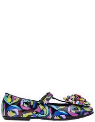 Детские туфли для девочек Moschino 25853-nero-multi
