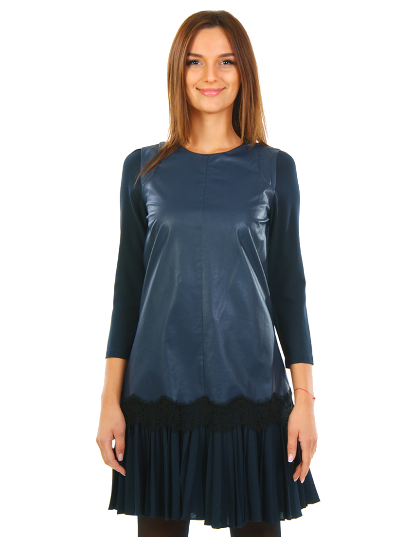 Купить Платье, PATRIZIA PEPE, Синий, 45%Вискоза 55%Полиэстер, Осень-Зима