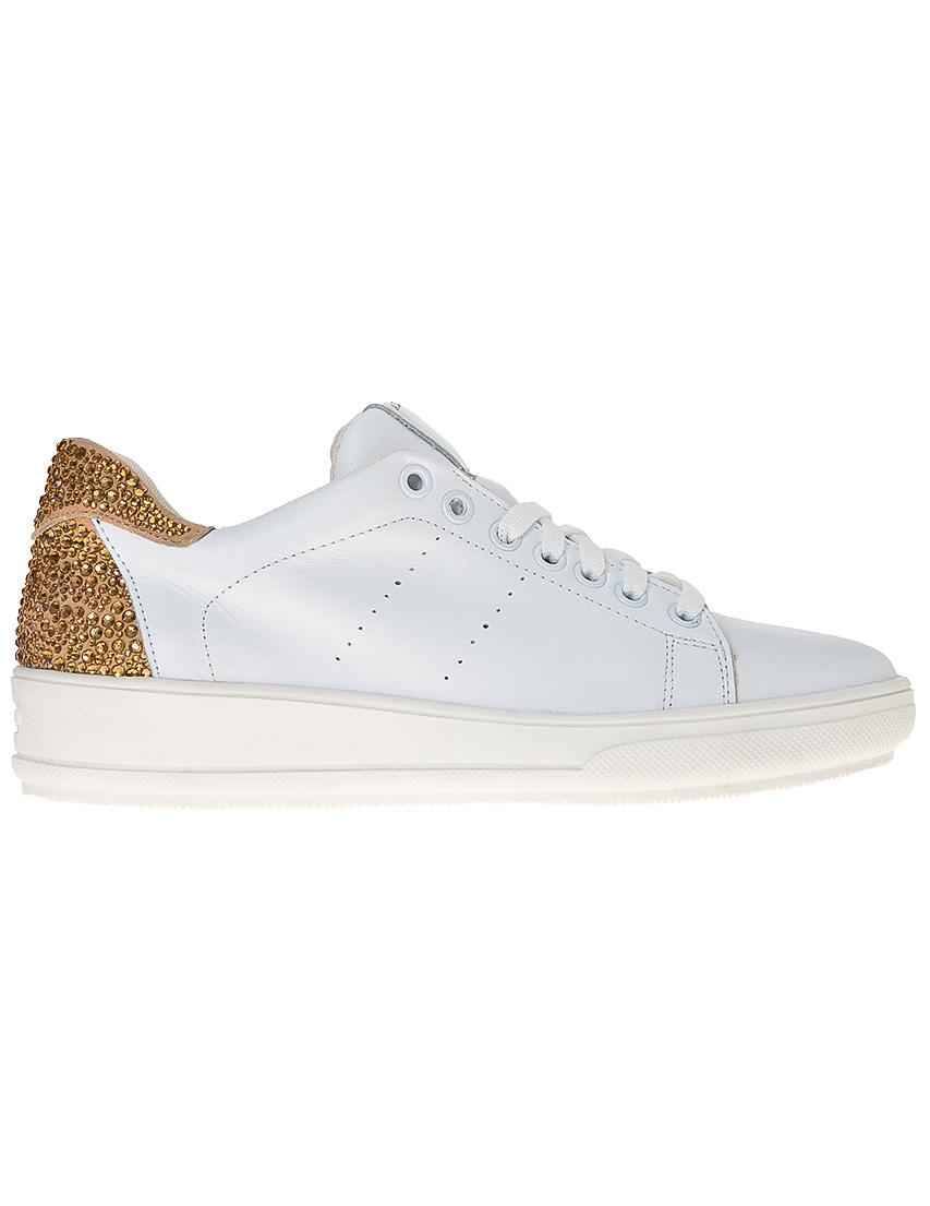 Фото 7 - женские кроссовки  белого цвета