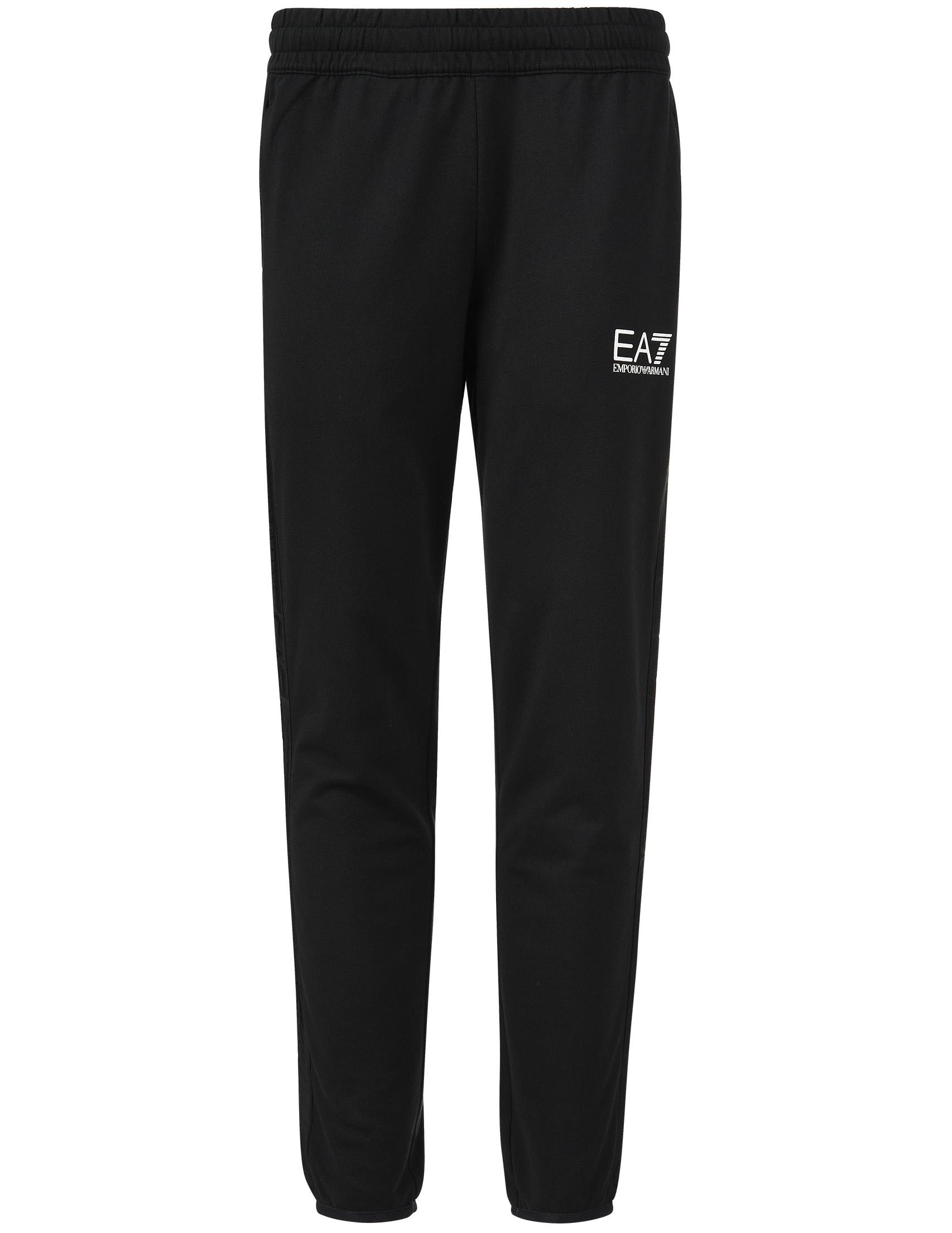 Купить Спортивные брюки, EA7 EMPORIO ARMANI, Черный, 100%Хлопок, Весна-Лето