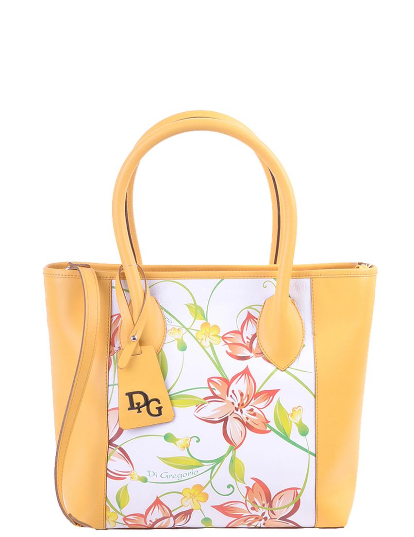 Купить Женские сумки, Сумка, DI GREGORIO, Желтый, Осень-Зима