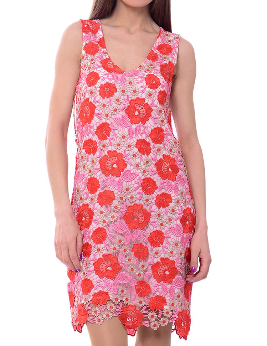 Купить Платья, Платье, PATRIZIA PEPE, Красный, 100%Полиэстер, Весна-Лето