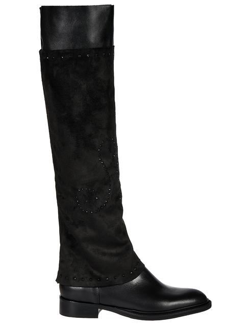 женские черные кожаные Сапоги Fru.It 5813DM - фото-5