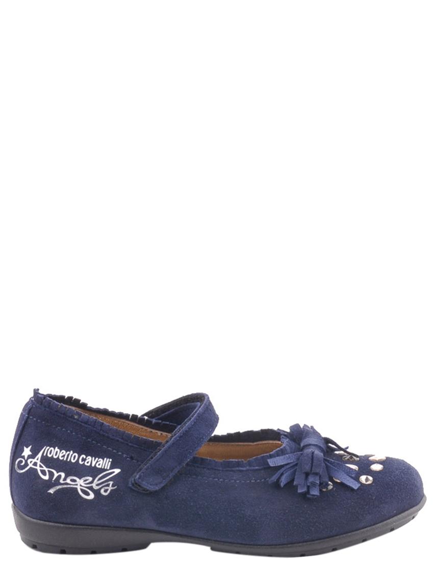 Детские туфли для девочек ROBERTO CAVALLI PEB0351Ablue