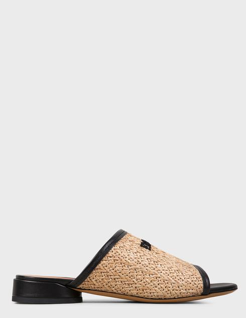 женские коричневые текстильные Шлепанцы Emporio Armani X3P712XM330-P927 - фото-5