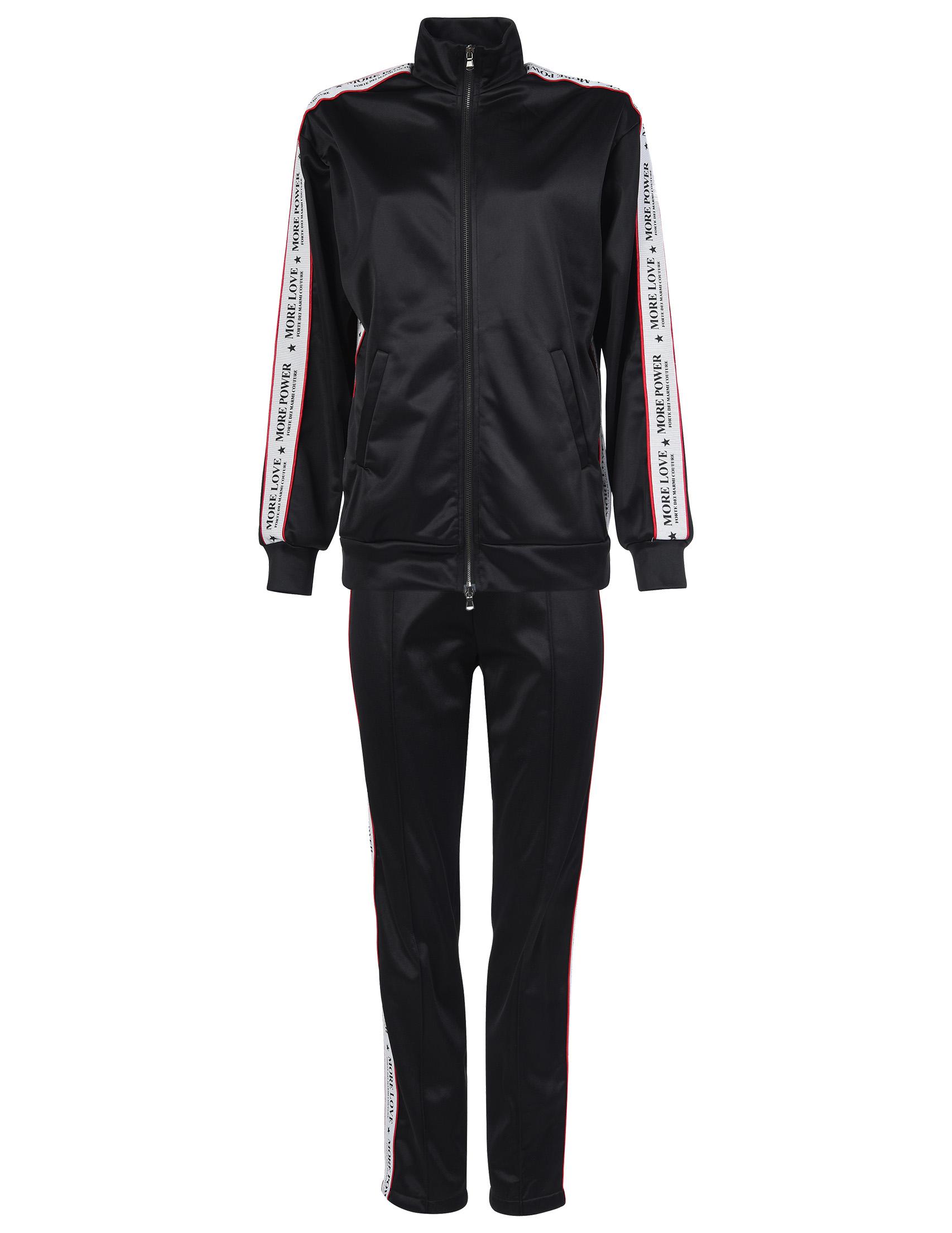 Купить Спортивный костюм, FORTE COUTURE, Черный, 100%Полиэстер;60%Хлопок 40%Ацетат, Осень-Зима