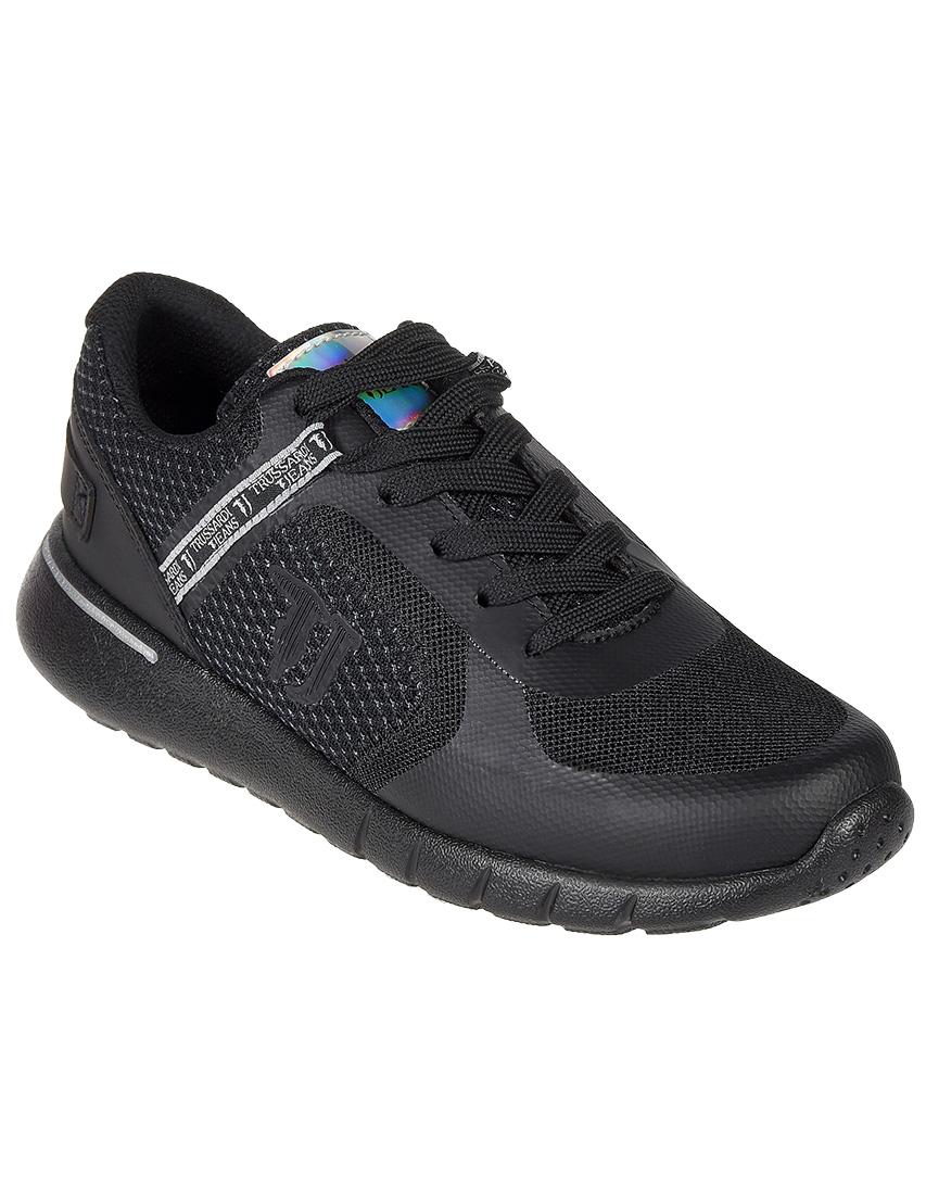 Текстильные чёрные кроссовки TRUSSARDI JEANS (ITALY)
