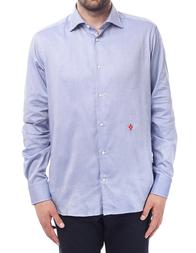 Мужская рубашка BALLANTYNE Р-72_blue