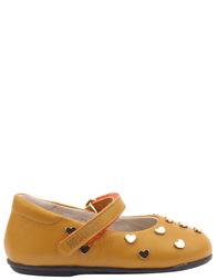 Детские туфли для девочек MOSCHINO 25354-yellow